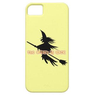 ハロウィンのおもしろいな飛んでいるな魔法使いはほうきの柄にもどって来ます iPhone SE/5/5s ケース