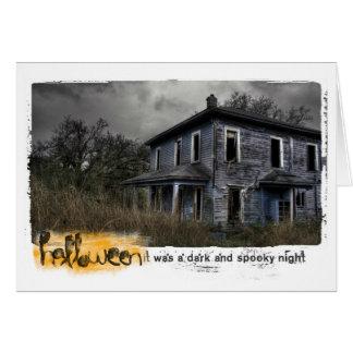 ハロウィンのお化け屋敷の写真 カード