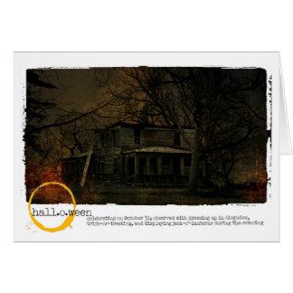 ハロウィンのお化け屋敷の写真 グリーティングカード