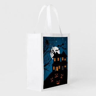 ハロウィンのお化け屋敷 エコバッグ