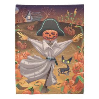 ハロウィンのかかし(2つの側面)の対の羽毛布団カバー 掛け布団カバー