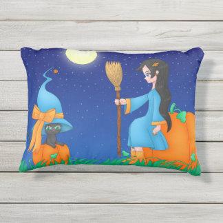 ハロウィンのかわいいの魔法使いの枕 アウトドアクッション