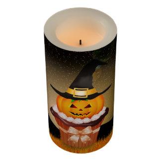 ハロウィンのかわいいカップケーキの中型のFlameless蝋燭 LEDキャンドル
