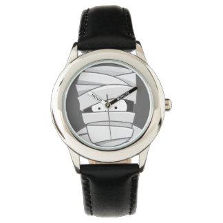 ハロウィンのかわいいミイラ 腕時計