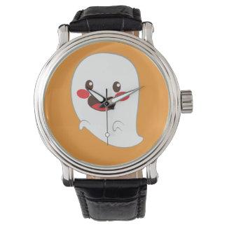 ハロウィンのかわいい要素: 幽霊 腕時計