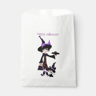 ハロウィンのかわいい魔法使い フェイバーバッグ