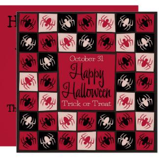 ハロウィンのくものモザイク カード