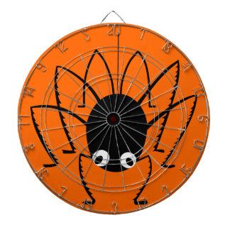 ハロウィンのくもの投げ矢が付いているオレンジ投げ矢板 ダーツボード