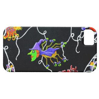 ハロウィンのくも、ハロウィーンのカボチャのちょうちんのくもの巣、かかし iPhone SE/5/5s ケース