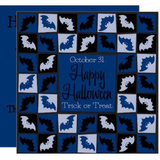 ハロウィンのこうもりのモザイク カード