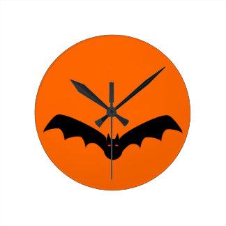 ハロウィンのこうもりの柱時計 ラウンド壁時計