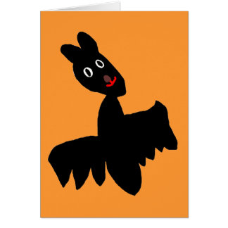ハロウィンのこうもり カード