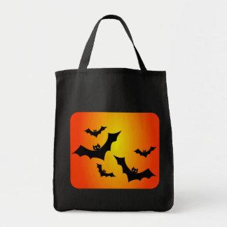 ハロウィンのこうもり トートバッグ