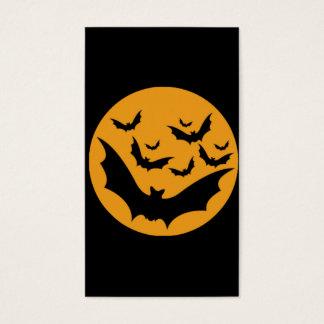 ハロウィンのこうもり 名刺
