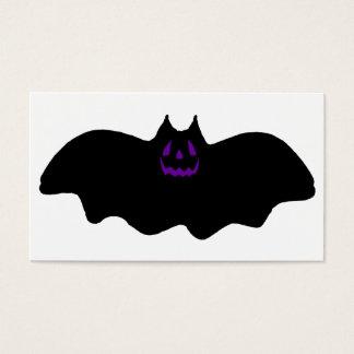 ハロウィンのこうもりw/Purpleの顔 名刺