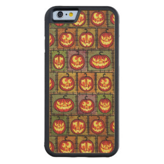 ハロウィンのぼろぼろの背景 CarvedメープルiPhone 6バンパーケース