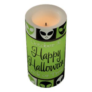 ハロウィンのエイリアンのモザイク LEDキャンドル