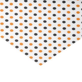 ハロウィンのオレンジおよび黒いティッシュペーパー 薄葉紙
