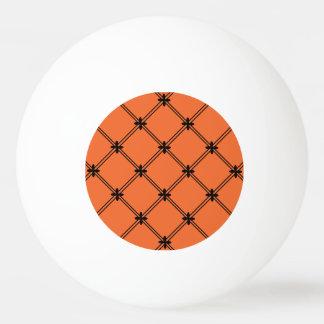 ハロウィンのオレンジおよび黒いパターン 卓球ボール