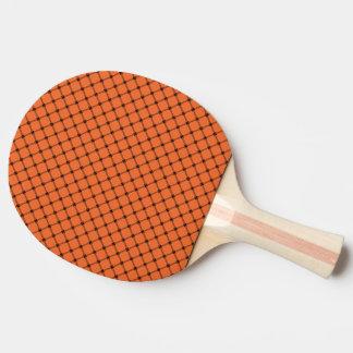 ハロウィンのオレンジおよび黒いパターン 卓球ラケット
