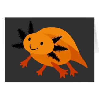 ハロウィンのオレンジアホロートル カード