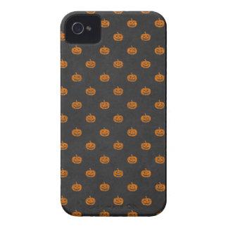 ハロウィンのオレンジカボチャ黒板パターン Case-Mate iPhone 4 ケース