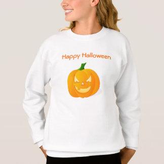 ハロウィンのオレンジカボチャ スウェットシャツ
