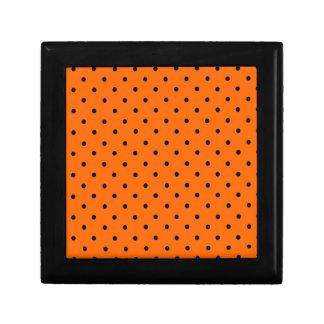 ハロウィンのオレンジ点のギフト用の箱 ギフトボックス