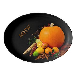 ハロウィンのカスタムなモノグラムの磁器の大皿 磁器大皿