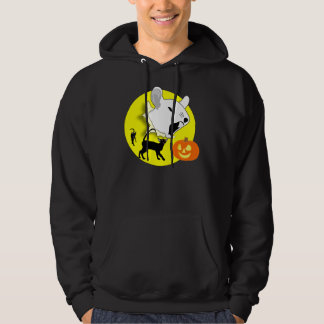 ハロウィンのカボチャマウスおよび猫のワイシャツ パーカ