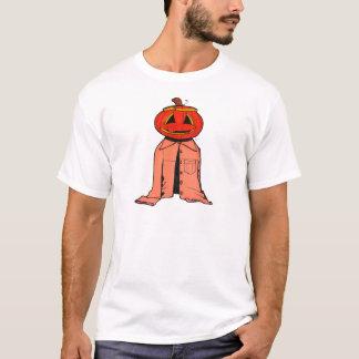 ハロウィンのカボチャ人 Tシャツ