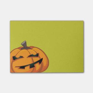 ハロウィンのカボチャ後it®ノートをにやにや笑うこと ポストイット