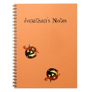 ハロウィンのカボチャ遊ぶこと ノートブック