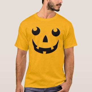 ハロウィンのカボチャ顔のTシャツ Tシャツ