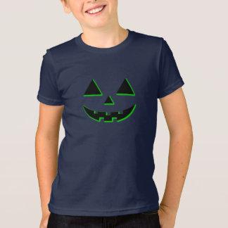 ハロウィンのカボチャ顔 Tシャツ