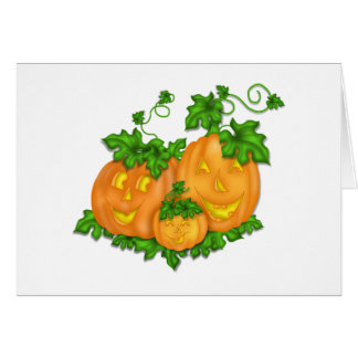 ハロウィンのカボチャ カード