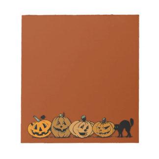 ハロウィンのカボチャ ノートパッド