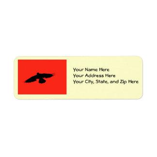 ハロウィンのカラスカード ラベル