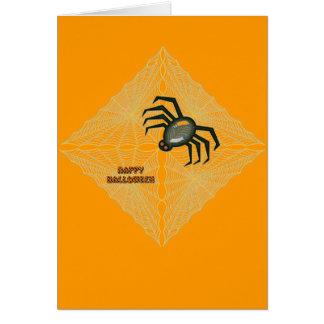 ハロウィンのクモの巣およびくも カード
