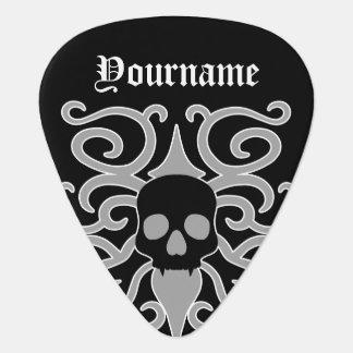 ハロウィンのゴシック様式スカル ギターピック