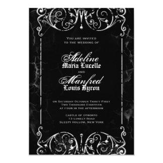 ハロウィンのゴシック様式ビクトリアンな結婚式招待状 カード
