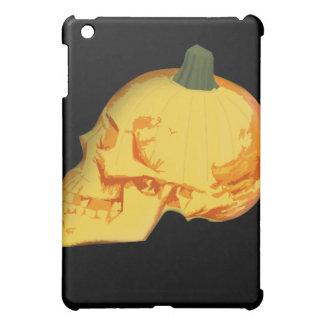 ハロウィンのスカルおよびカボチャ iPad MINI カバー