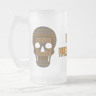 ハロウィンのスカルのマグ フロストグラスビールジョッキ