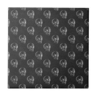 ハロウィンのスカルの黒板パターン タイル