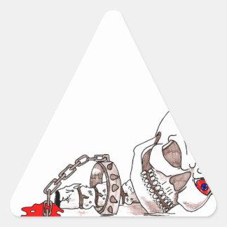 ハロウィンのスカル 三角形シール