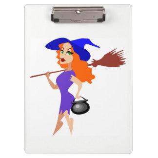 ハロウィンのセクシーな魔法使い クリップボード