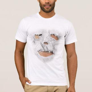 ハロウィンのゾンビによって引き裂かれる衣類 Tシャツ