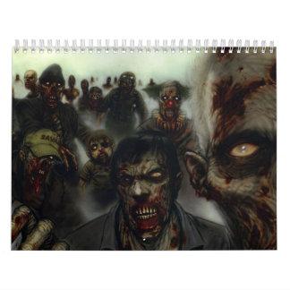 ハロウィンのゾンビのカレンダー カレンダー