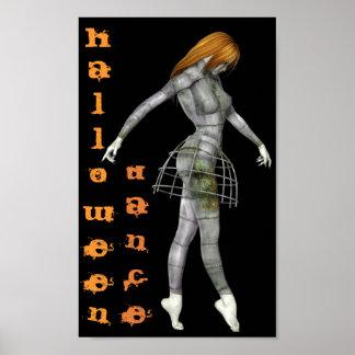 ハロウィンのダンスのSteampunkの錆ついたゴシックのマネキン ポスター