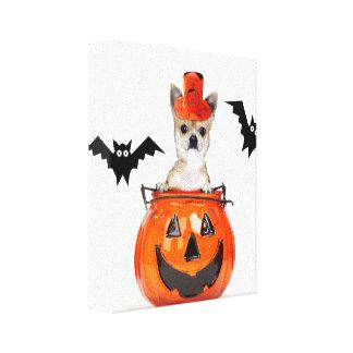 ハロウィンのチワワ犬 キャンバスプリント